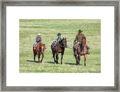 Father And Sons Framed Print by Todd Klassy