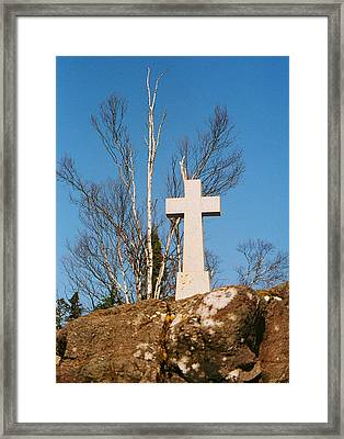 Father Baraga's Cross Framed Print by C E McConnell
