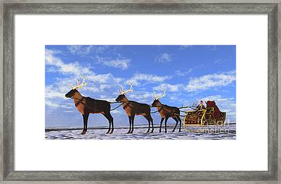 Father Christmas Framed Print by Corey Ford