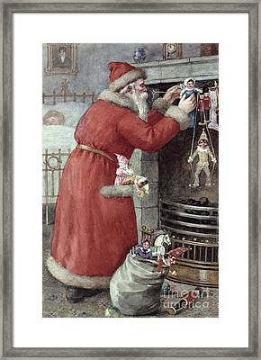 Father Christmas Framed Print by Karl Roger
