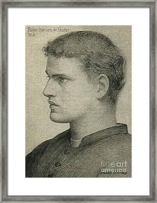 Father Damien De Veuster Framed Print by James Temple