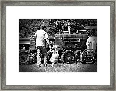 Father/daughter Day Framed Print