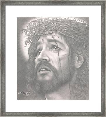 Father Forgive Them Framed Print by Eduard  Brinkman