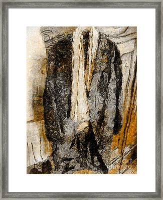 Father's Coat Framed Print by Claire Bull
