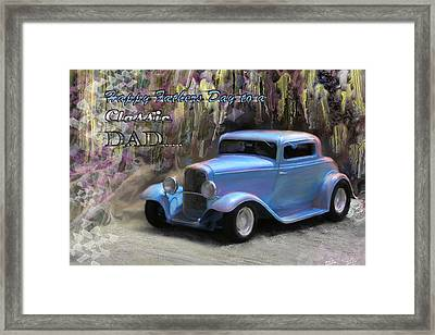 Fathers Day Classic Dad Framed Print