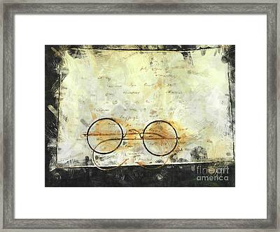 Framed Print featuring the photograph Father's Glasses by Claire Bull