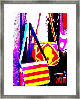 Fatima Bags In Marrakech Framed Print by Funkpix Photo Hunter