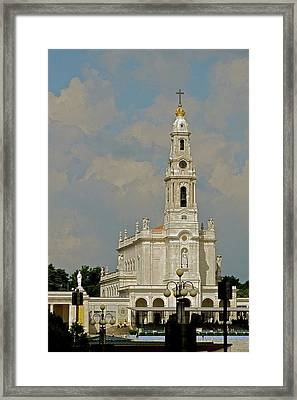 Fatima Cathedral Framed Print by Kirsten Giving