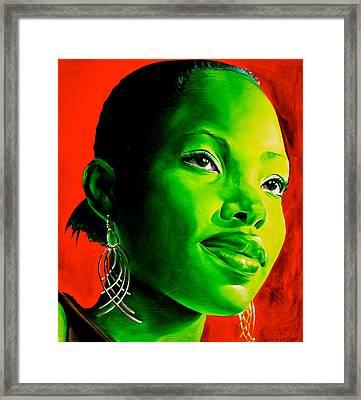 Fatima Framed Print by Laura Pierre-Louis