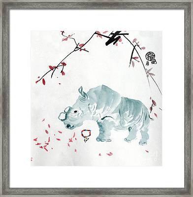 Fatu At The Ol Pejeta Conservancy Framed Print by Ming Yeung