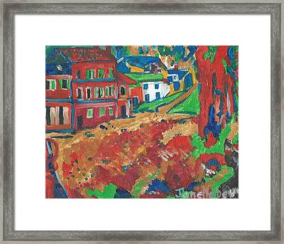 Framed Print featuring the painting Fauvism by Janelle Dey