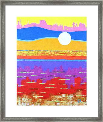 Fauvist Sunset Framed Print