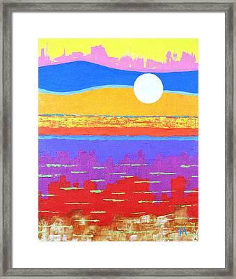 Fauvist Sunset Framed Print by Jeremy Aiyadurai