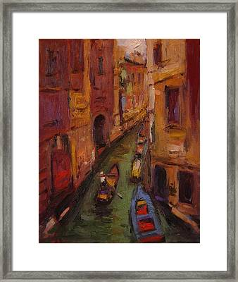 Fauvo Venice Framed Print by R W Goetting
