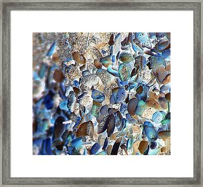 Faux Sea Glass Framed Print