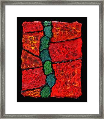 Faux Tile Painting One Framed Print