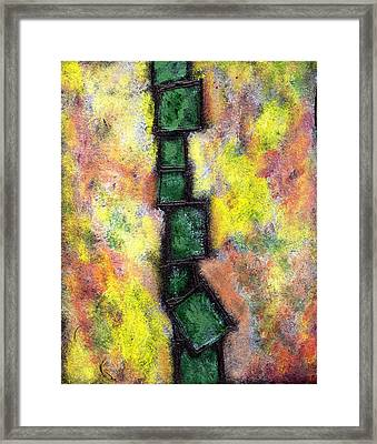 Faux Tile Two Framed Print by Wayne Potrafka