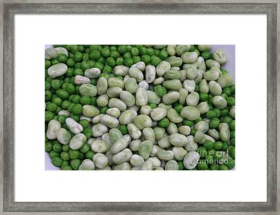 Fava Beans And Peas Framed Print by Carol Groenen