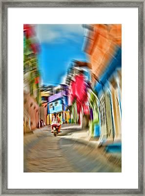 Framed Print featuring the photograph Favela Vortex by Kim Wilson