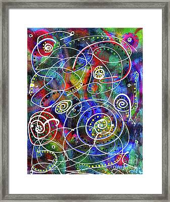 Brush Canvas Colors  Framed Print by Davids Digits