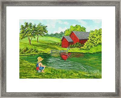 Favorite Fishing Hole Framed Print by Charlotte Blanchard