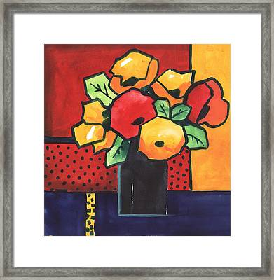 Favorite Funny Flowers 2 Framed Print by Carrie Allbritton