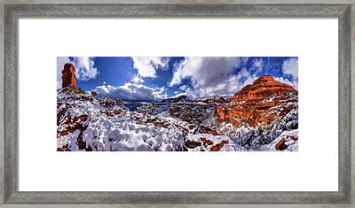 Fay Canyon Snowfall 1 Framed Print by ABeautifulSky Photography