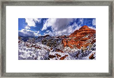 Fay Canyon Snowfall 2 Framed Print by ABeautifulSky Photography