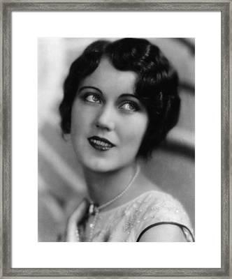 Fay Wray, Ca. Late 1920s Framed Print by Everett