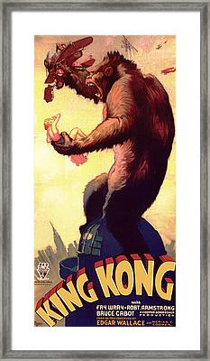 Fay Wray In King Kong 1933 Framed Print by Mountain Dreams