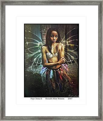 Faye Dona II Framed Print by Donald Yenson