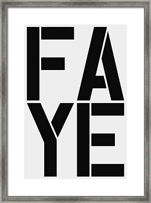 Faye Framed Print by Three Dots