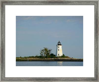 Framed Print featuring the photograph Fayerweather Lighthouse by Margie Avellino