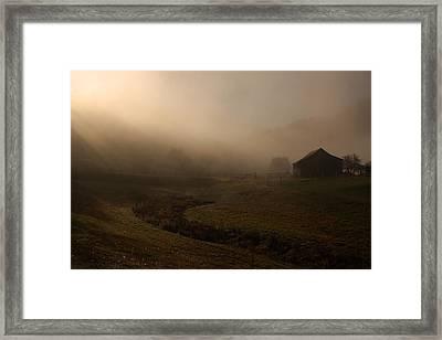 Fayette Co. Foggy Farm Framed Print by Robert  Suits Jr