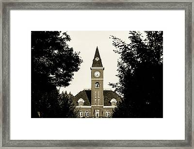Fayetteville Arkansas Downtown Courthouse Sepia Framed Print