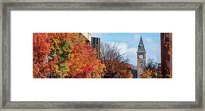 Fayetteville Arkansas Fall Color Cityscape Panorama Framed Print