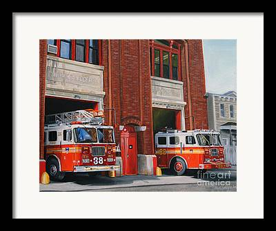 Engine House Framed Prints
