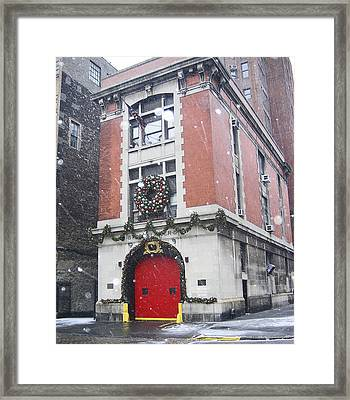 Fdny Hook And Ladder 8 Framed Print by Bernadette Claffey