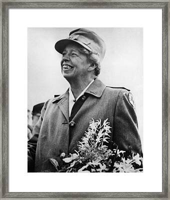 Fdr Presidency. Eleanor Roosevelt Framed Print by Everett