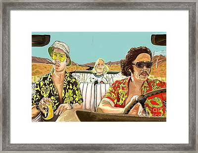 Fear And Loathing Framed Print by Johnee Fullerton
