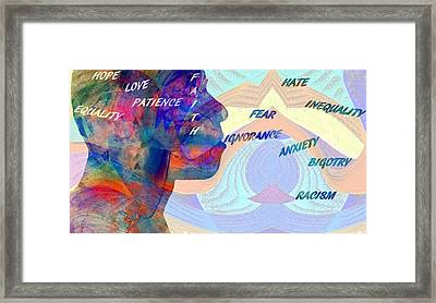 Fear Breeds Hate Framed Print by Dan Sproul