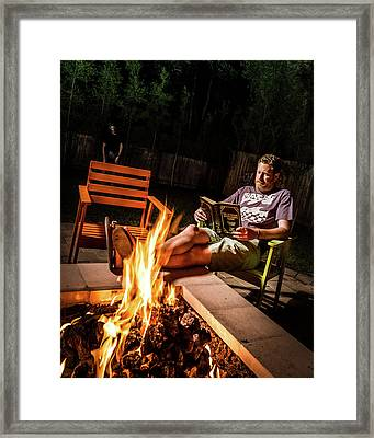 Fear By Fire Framed Print