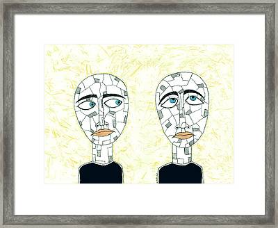 Fear, Mistrust, And Suspicion Framed Print by Jeremy Clayton