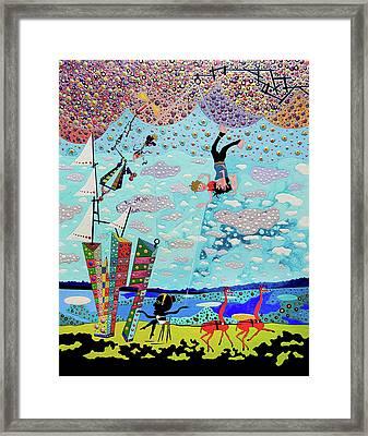 Fear Of Flying Framed Print by Johny Deluna