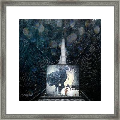 Framed Print featuring the digital art Fear Of Stairs by Delight Worthyn