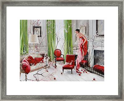 Fear O'moans Framed Print by Denise H Cooperman