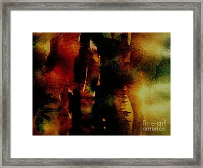 Framed Print featuring the painting Fear On The Dark by Rushan Ruzaick
