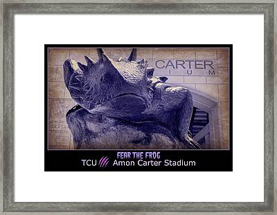 Fear The Frog - Tcu Poster Framed Print by Stephen Stookey