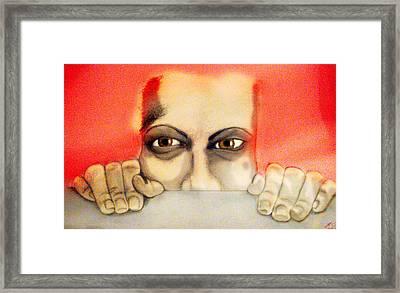 Fear Framed Print by Yvonne Lopez