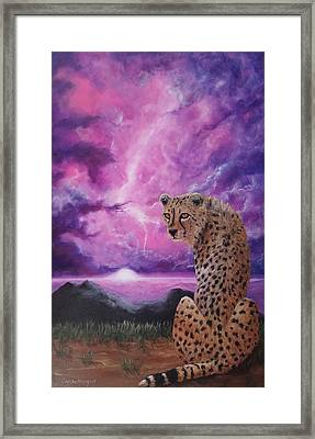 Framed Print featuring the painting Fearless  by Christie Minalga